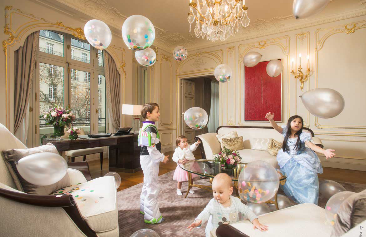 Paris Hotel Room with Children